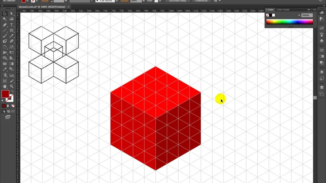1280x720 How To Draw Isometric Cube In Adobe Illustrator