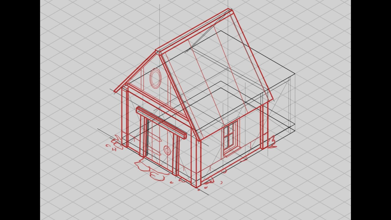 Line Drawing Of Your House : Isometric house drawing at getdrawings free for personal use