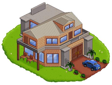 460x350 Isometric House + Car. By Craigsimm