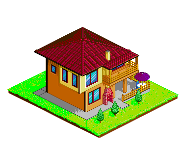 373x304 Isometric House A By Close To Earth