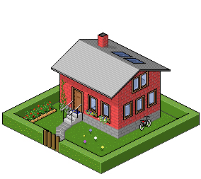 284x253 Isometric House, First Try By