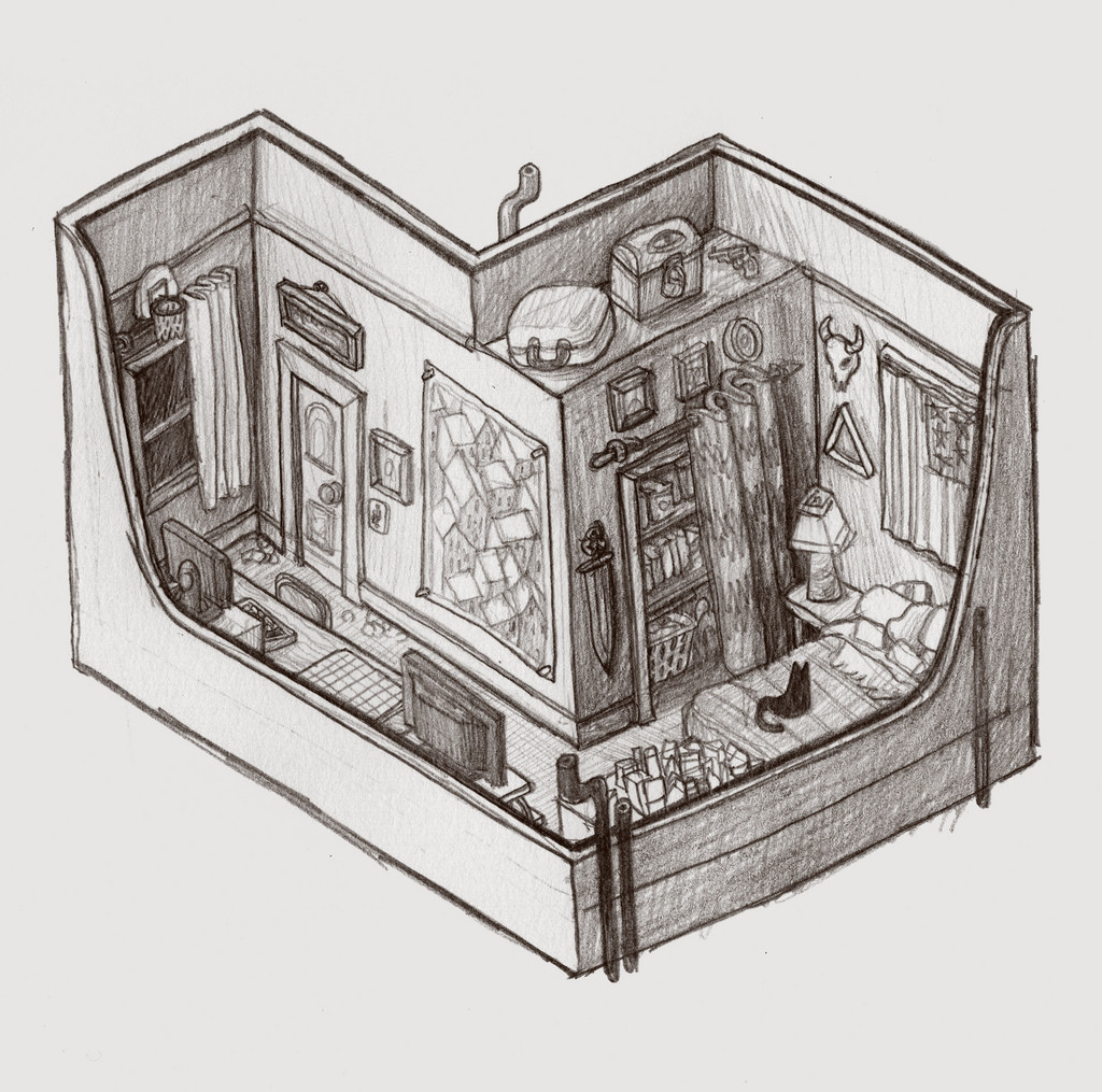 1024x1015 My House As An Isometric Drawing