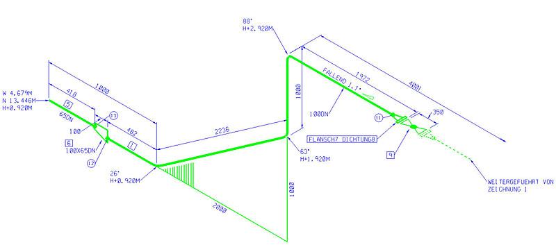 800x353 Isometric Drawing (Iso X)