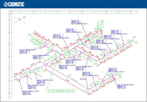 500x346 Pipe Isometric Drawings, Drawing Job Work In Thane, Cadmatic