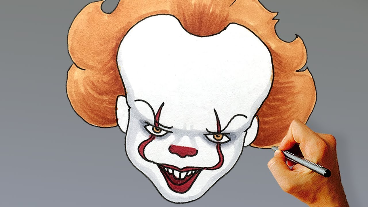 1280x720 How To Draw Pennywise The Clown Step By Step (2017) From It
