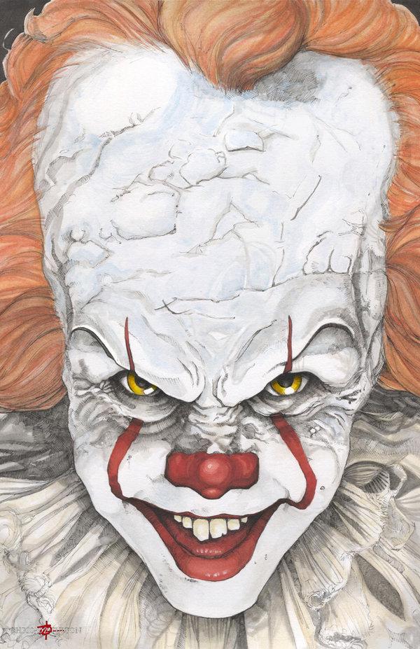 600x927 It Pennywise The Clown Bill Skarsgard By Chrisozfulton