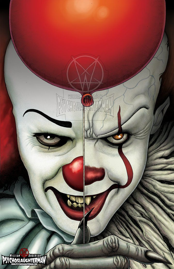 719x1112 Image Result For Drawing Of 2017 It The Clown With Balloon Cool