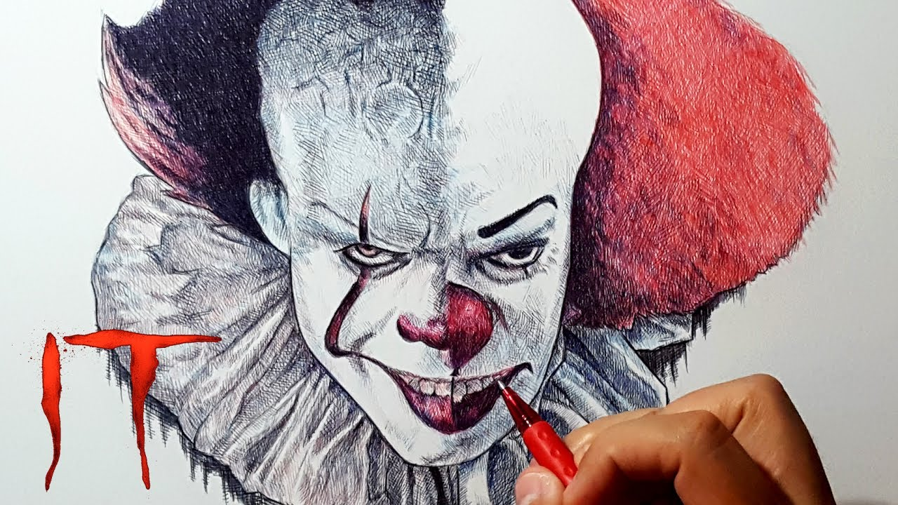 1280x720 Pennywise The Clown 2017 Vs 1990 Drawing