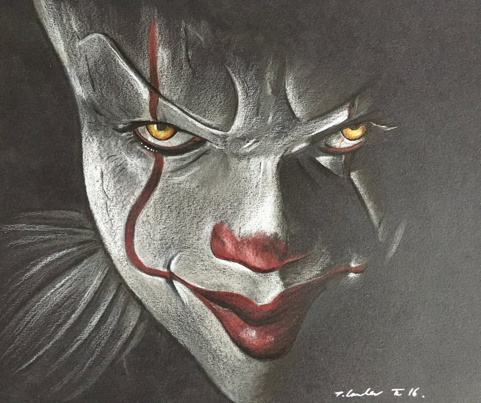 976x818 Pennywise The Clown It Drawing 2016 By Billyboyuk