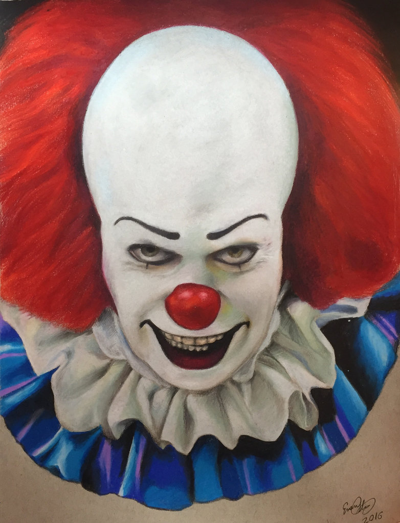 782x1022 Pennywise The Clown Colored Pencil Drawing By Evanartt