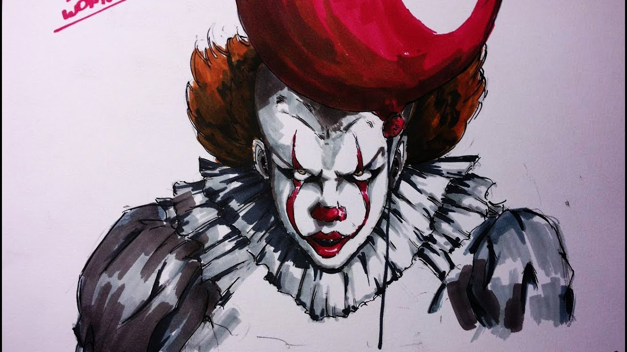 1280x720 Drawing Pennywise