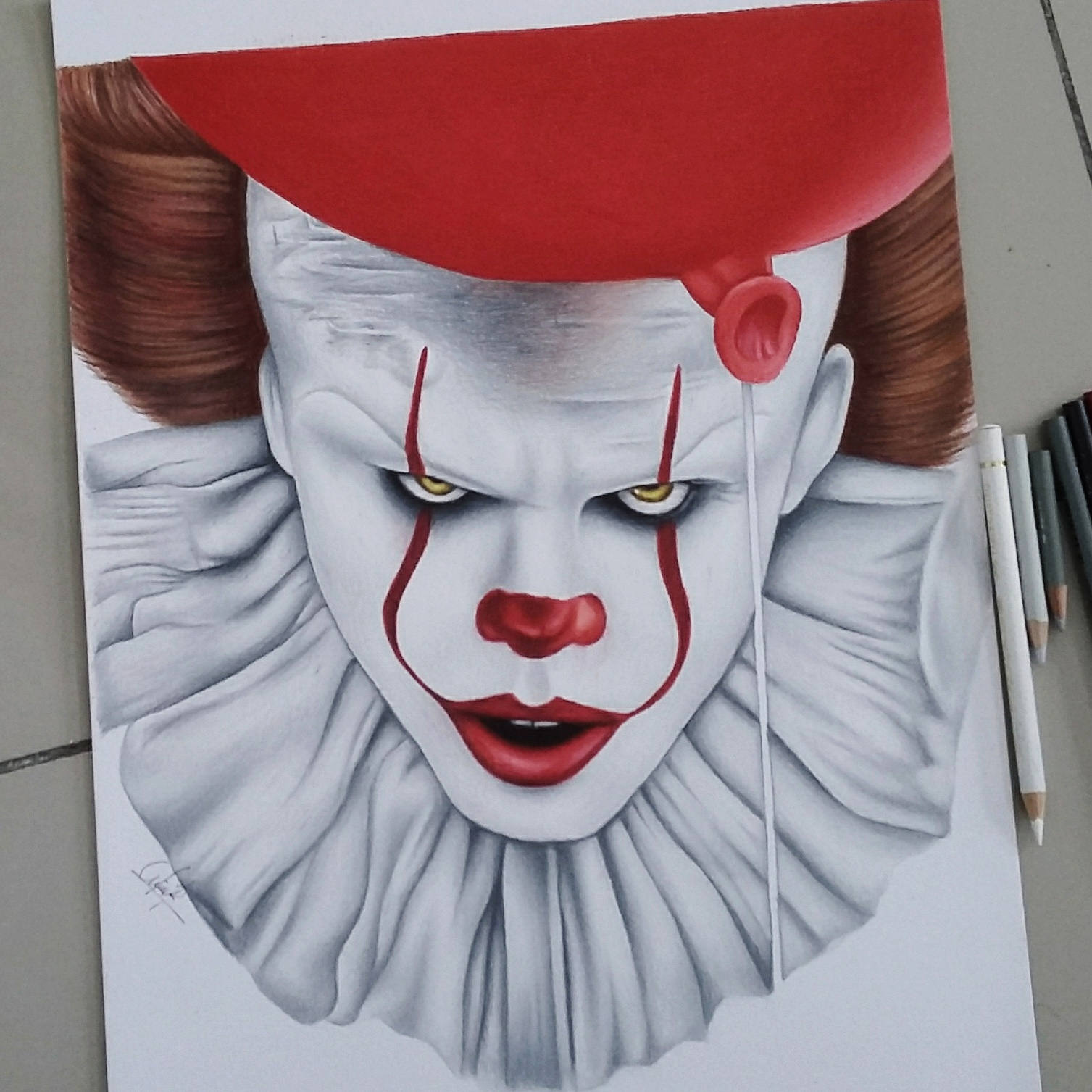 1507x1507 Drawing Of Pennywise It2017