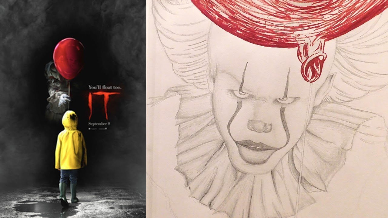 1280x720 Let's Draw Pennywise From Stephen King's It 2017 Version