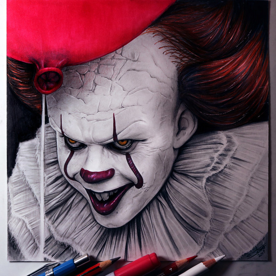 894x894 Pennywise Drawing