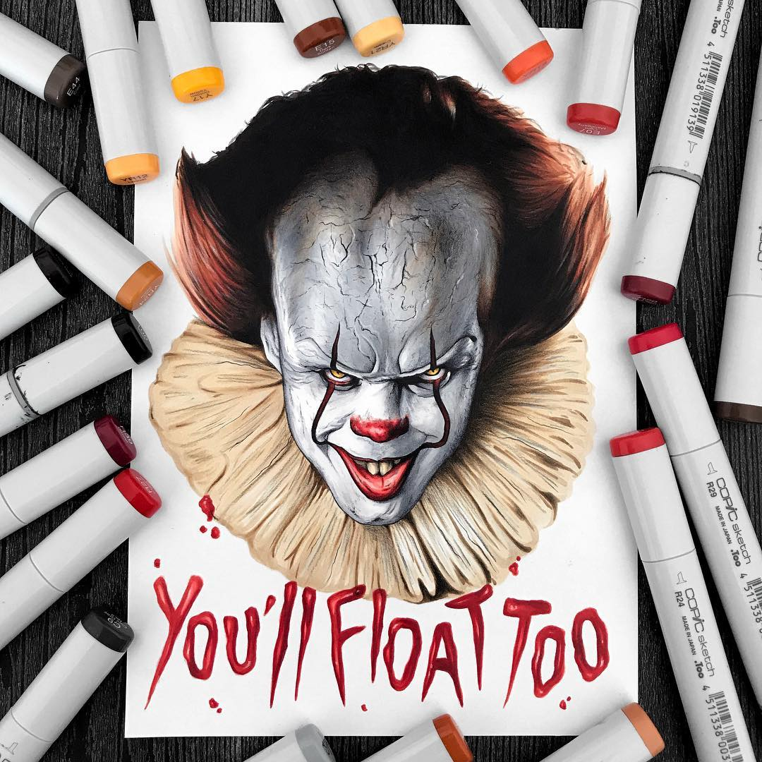 1080x1080 Pennywise Clown By Stephen Ward