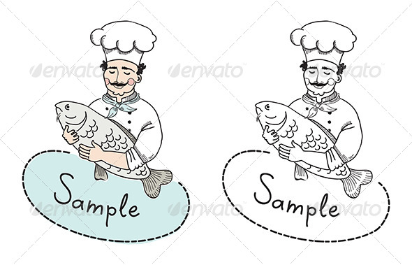 590x379 Italian Chef With Fish By Bloomicon Graphicriver