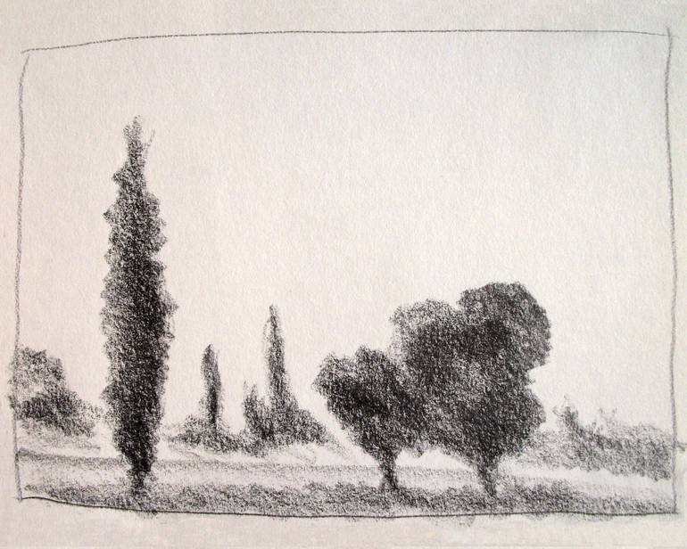 770x616 Saatchi Art Italian Landscapes Trees In The Roman Countryside