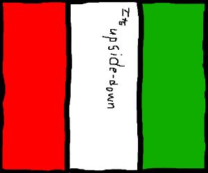 300x250 Italian Flag Upside Down
