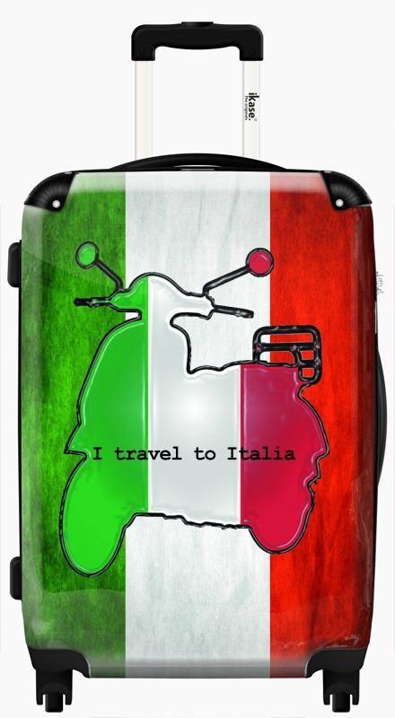 440x800 Suitcase Italian Flag Drawing, Hardside Spinner Upright Luggage