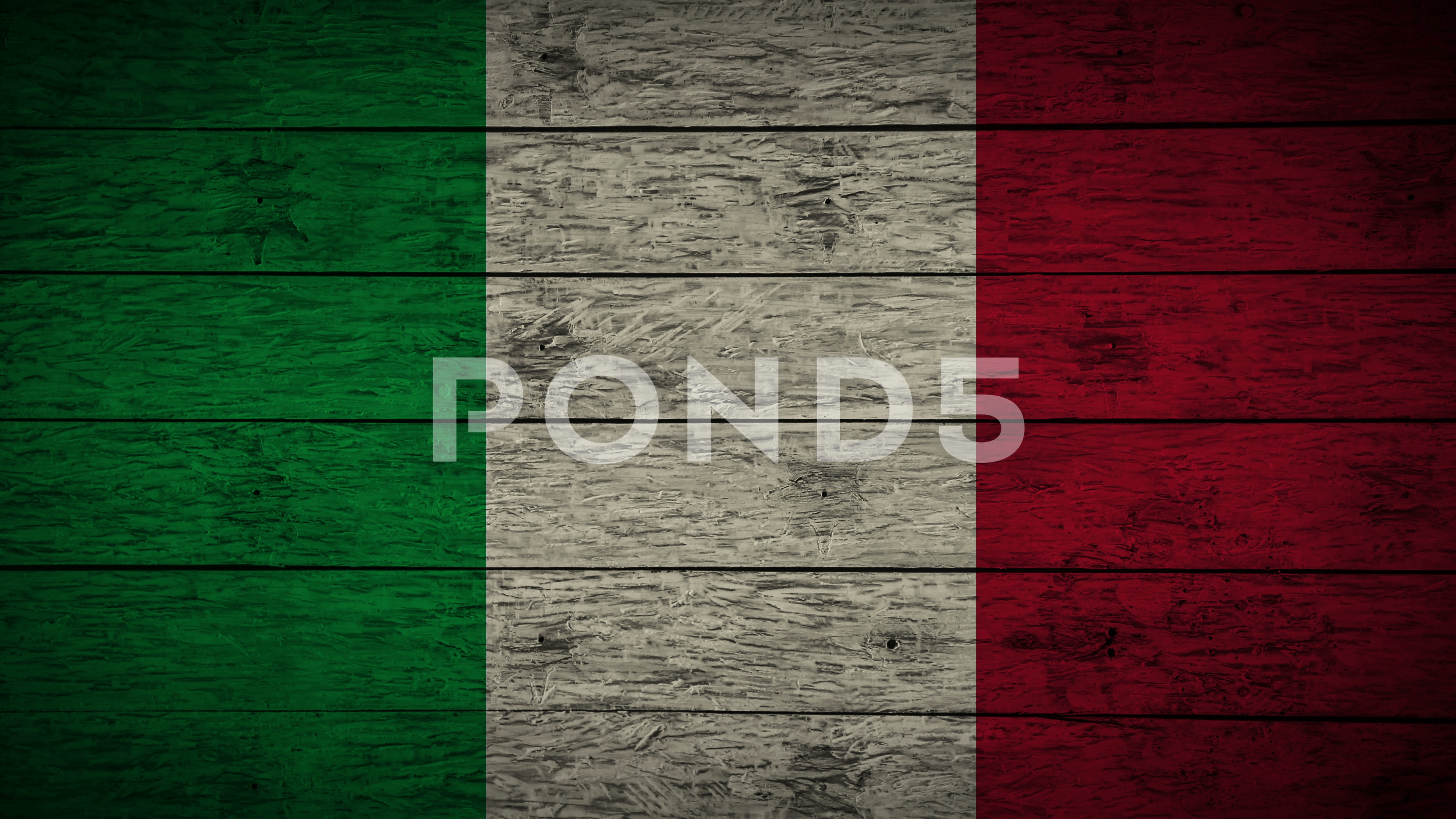 4096x2304 Video Painting Italy Flag On Old Wood Board. Animation Of Drawing