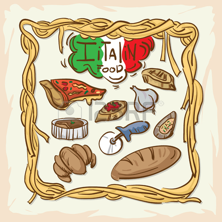 450x450 Italian Foods Drawing Graphic Design Illustrate Objects Royalty