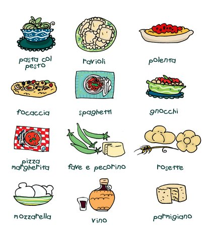 419x480 Italian Food Illustration Cooking Food