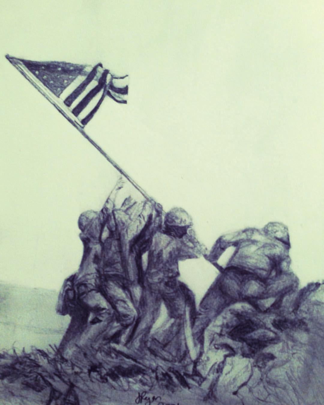 1080x1349 Colours Better Here! Raising The Flag On Iwo Jima. February 23