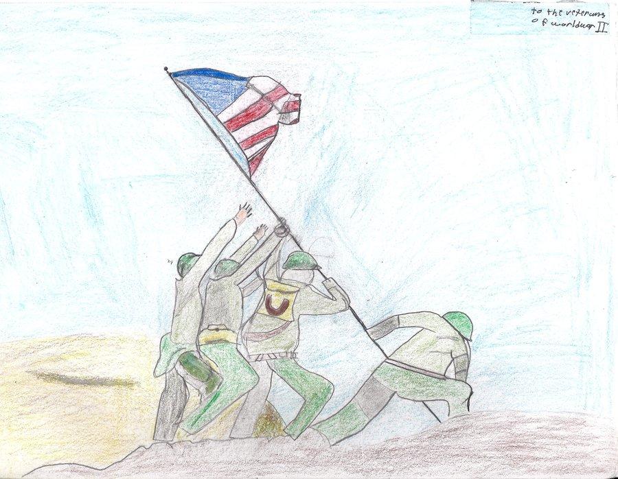 900x698 Flag Raising Iwo Jima By Masterofwolves99