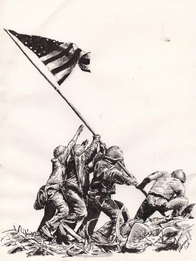 774x1032 Iwo Jima. By Knyttets