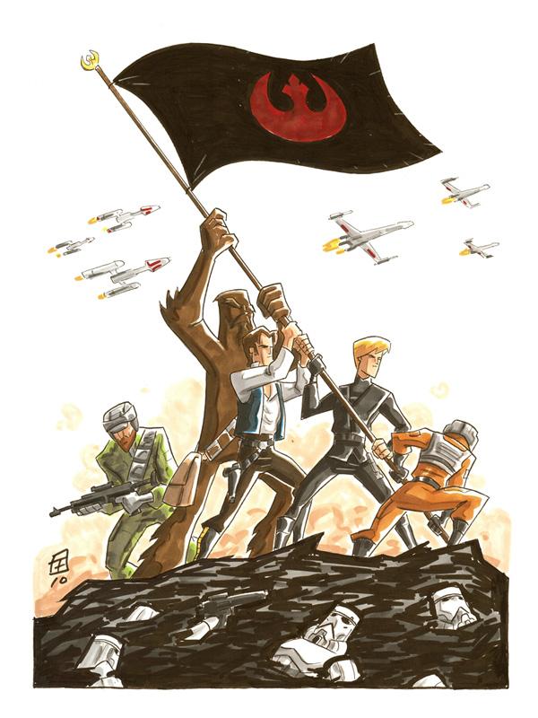 600x800 Star Wars Iwo Jima By Otisframpton
