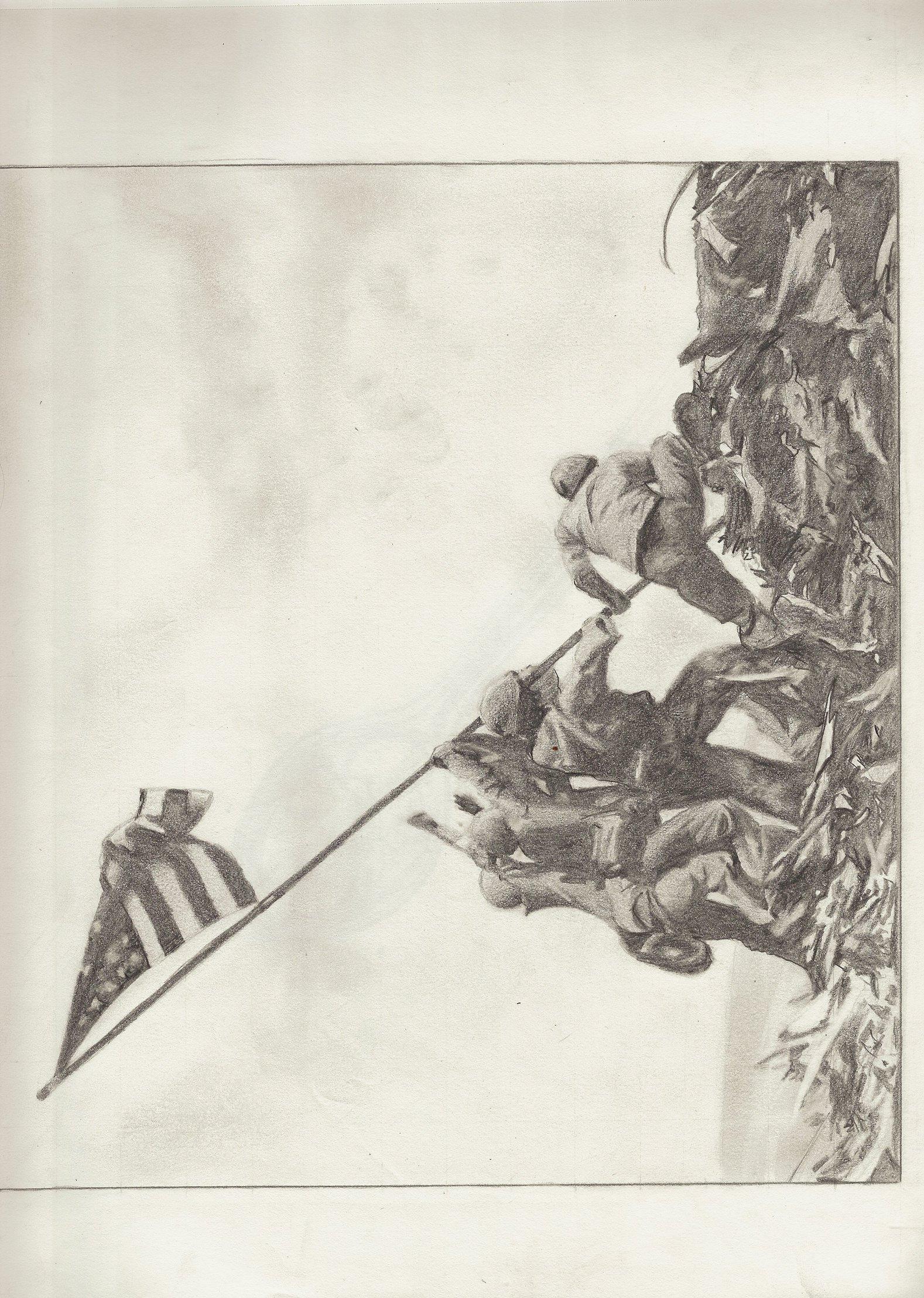 1578x2217 Raising The Flag Iwo Jima By Jackarunda