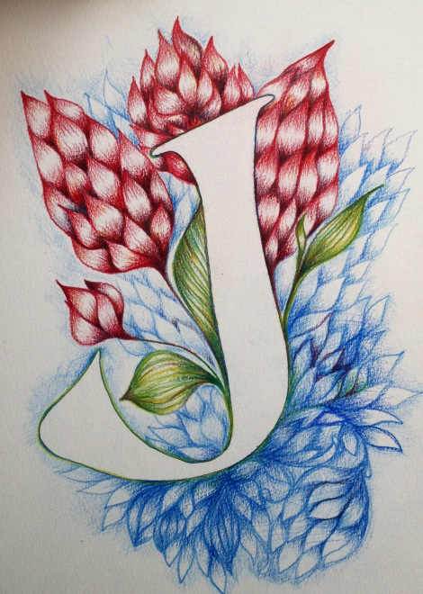 470x660 Letter J Drawing Typography J Is For Joan