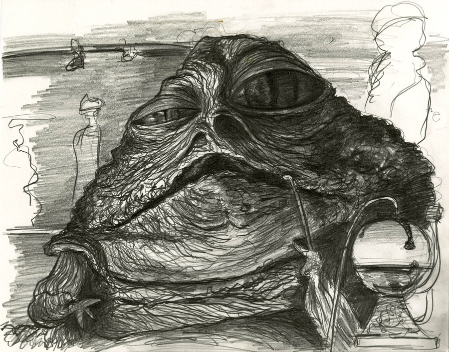 900x705 Jabba The Hutt Caricature By Caricature80