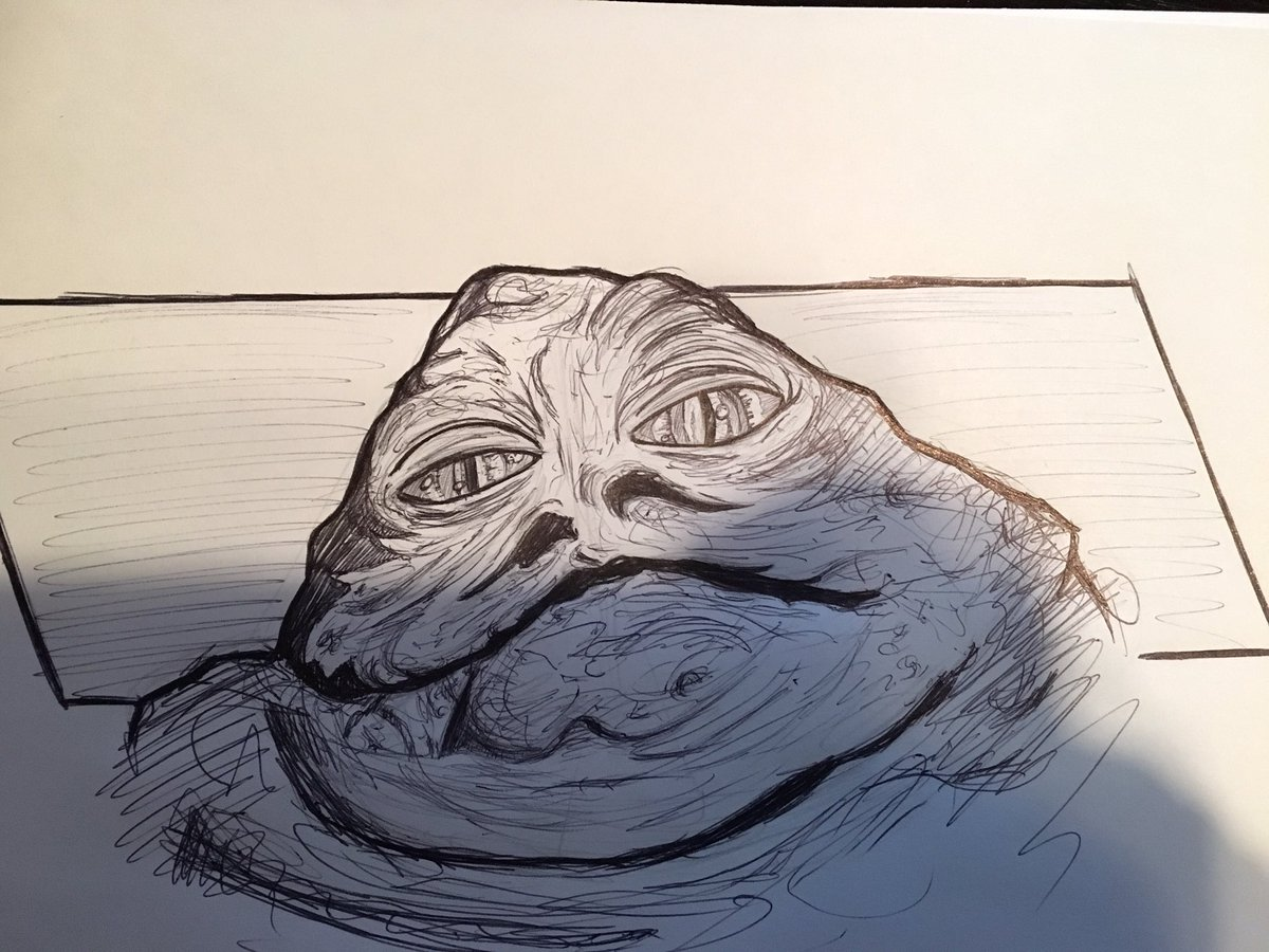 1200x900 Anthony Sevins (7s) On Twitter Jabba T. Hutt. Ink Pen