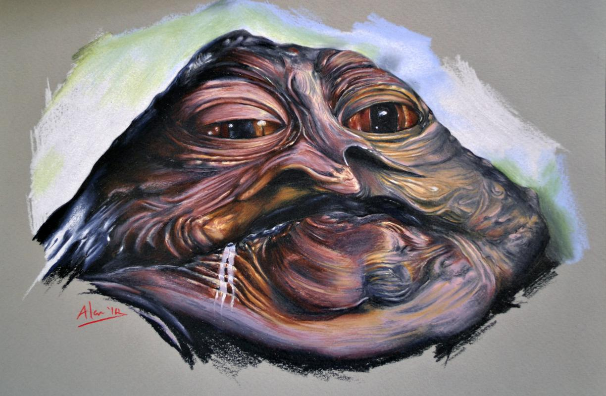 1224x800 Tattoos By Alan Aldred Original Art Drawings Jabba The Hutt