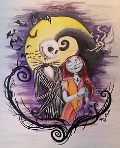 244x300 Jack Skellington Paintings Fine Art America