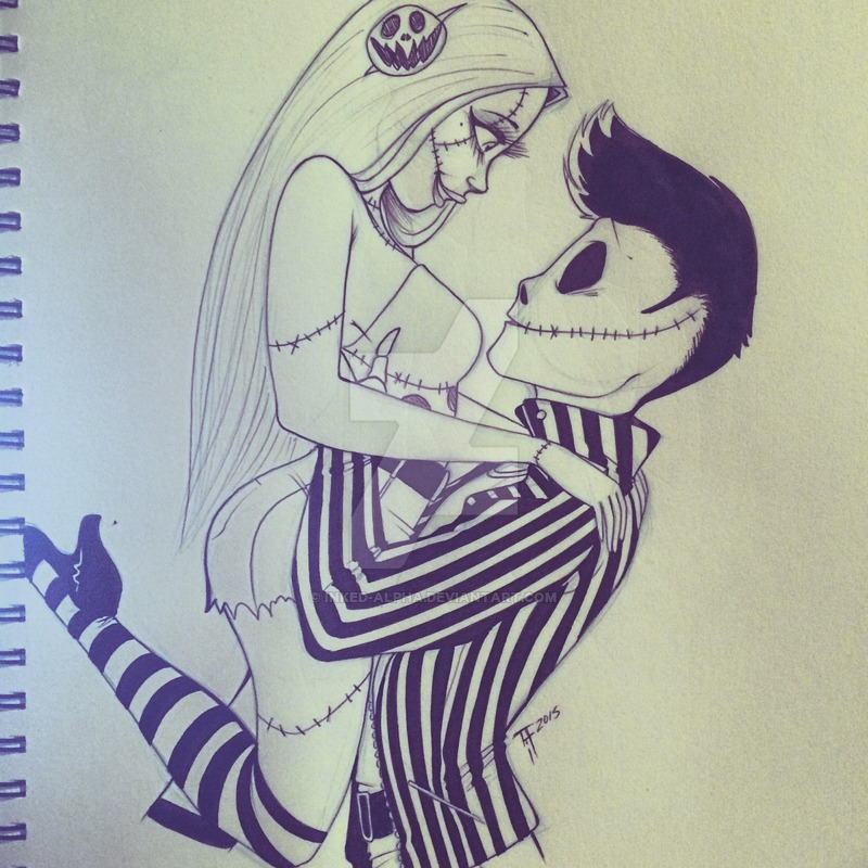 800x800 Jack And Sally Sketch By Inked Alpha