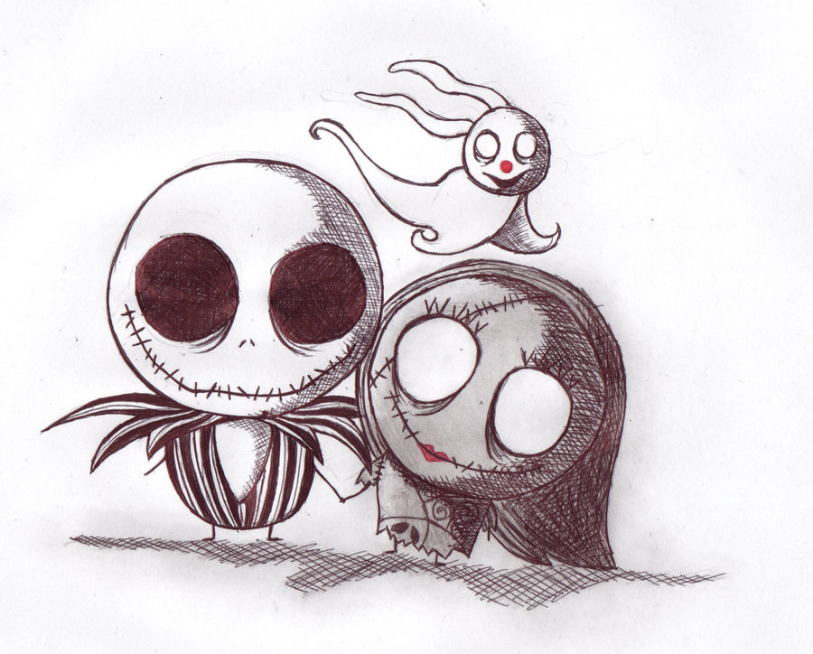 Tim Burton Nightmare Before Christmas Jack And Sally.Jack And Sally Drawing At Getdrawings Com Free For