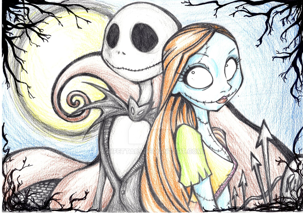 1024x724 Jack And Sally By Tifetta89