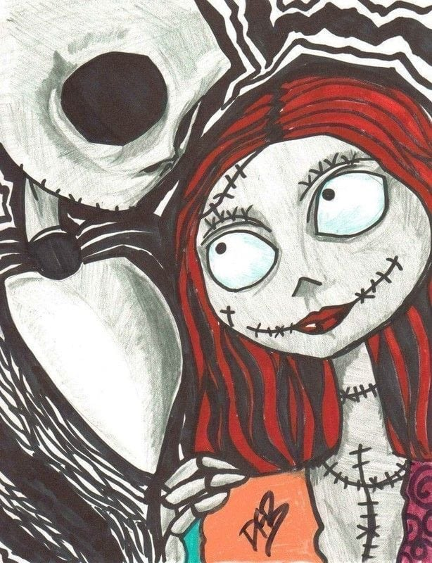 614x800 Like Jack And Sally A Drawing Art And Drawing On Cut Out +
