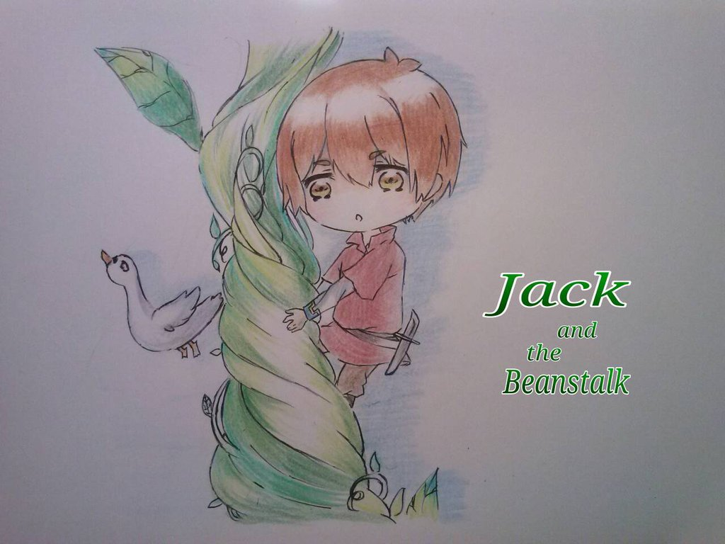 1024x768 Fairytale Chibi Jack And The Beanstalk By Sweetmeloday