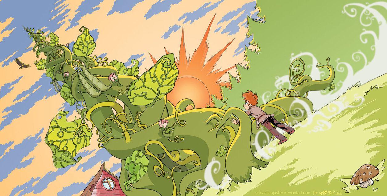 1255x637 Jack And The Beanstalk By Sebastianjaster