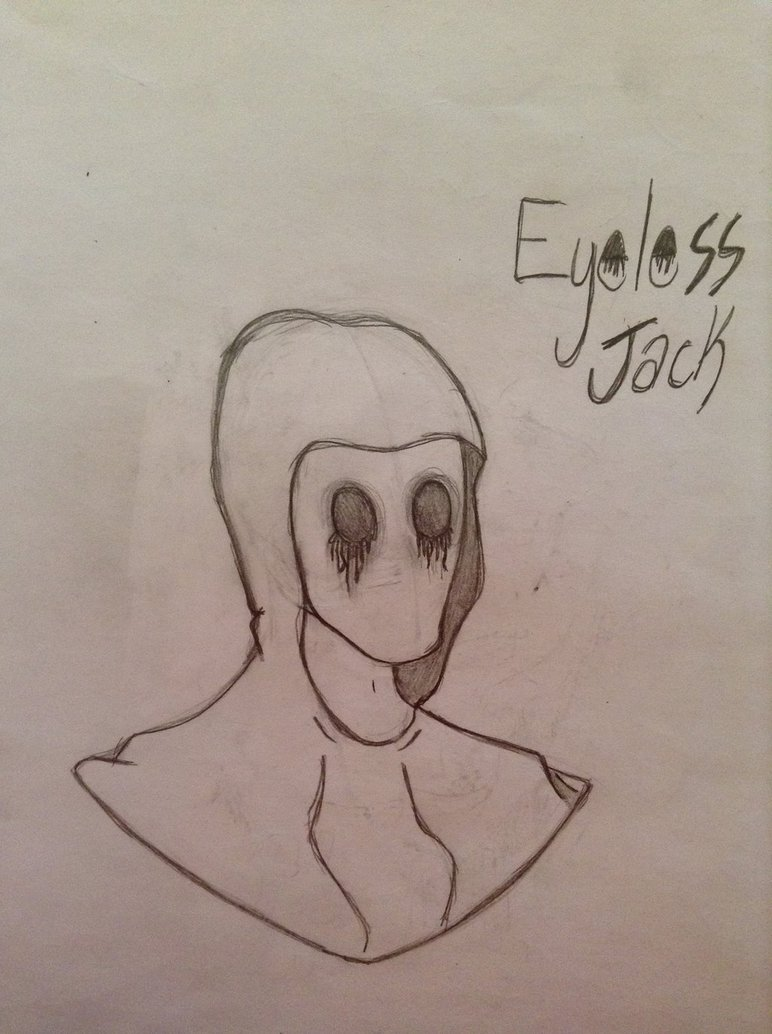 772x1034 Eyeless Jack Drawing By Harlynstein