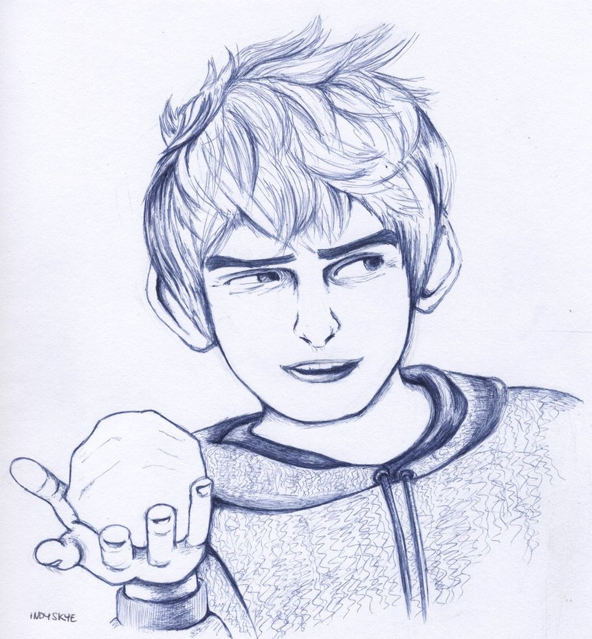 861x929 Jack Frost Ball Pen Drawing By Indyskye