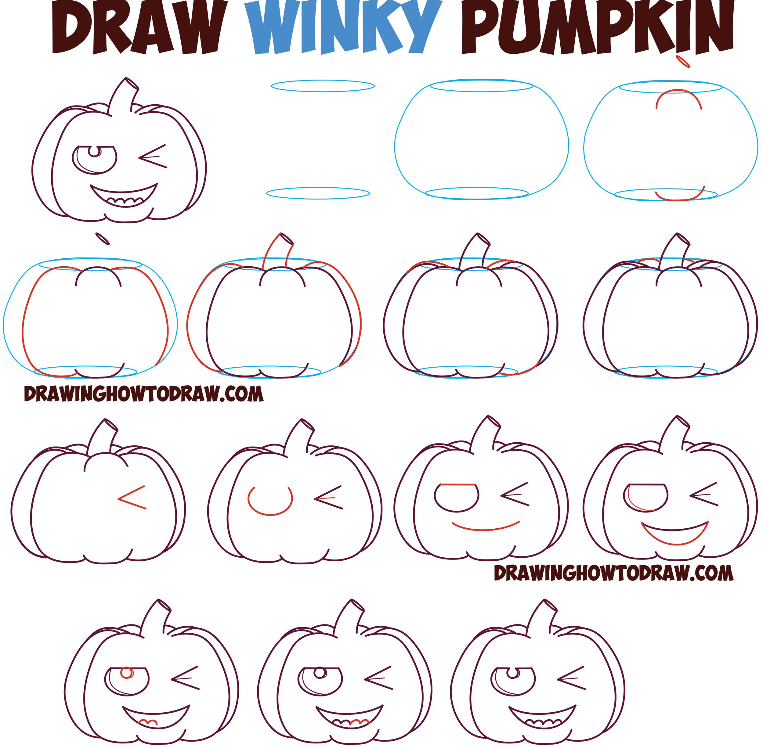 2500x2452 Huge Guide To Drawing Cartoon Pumpkin Faces Jack O'Lantern Faces
