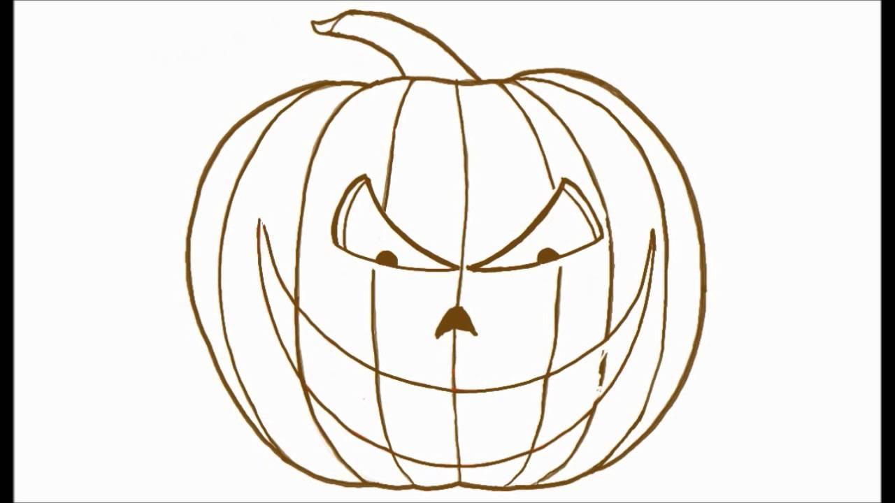 1280x720 How To Draw A Scary Halloween Jack O Lantern