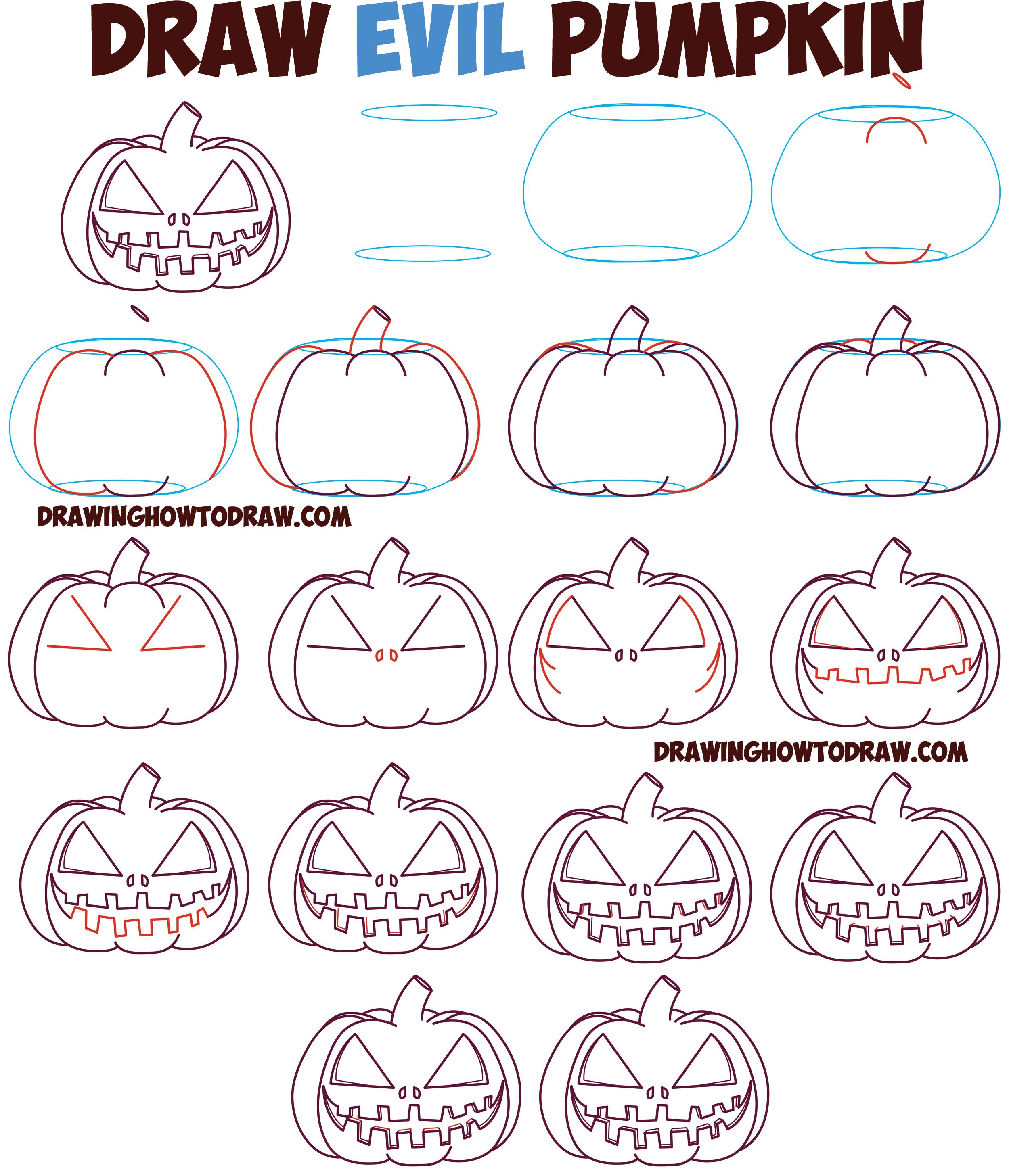 2500x2915 Huge Guide To Drawing Cartoon Pumpkin Faces Jack O'Lantern Faces
