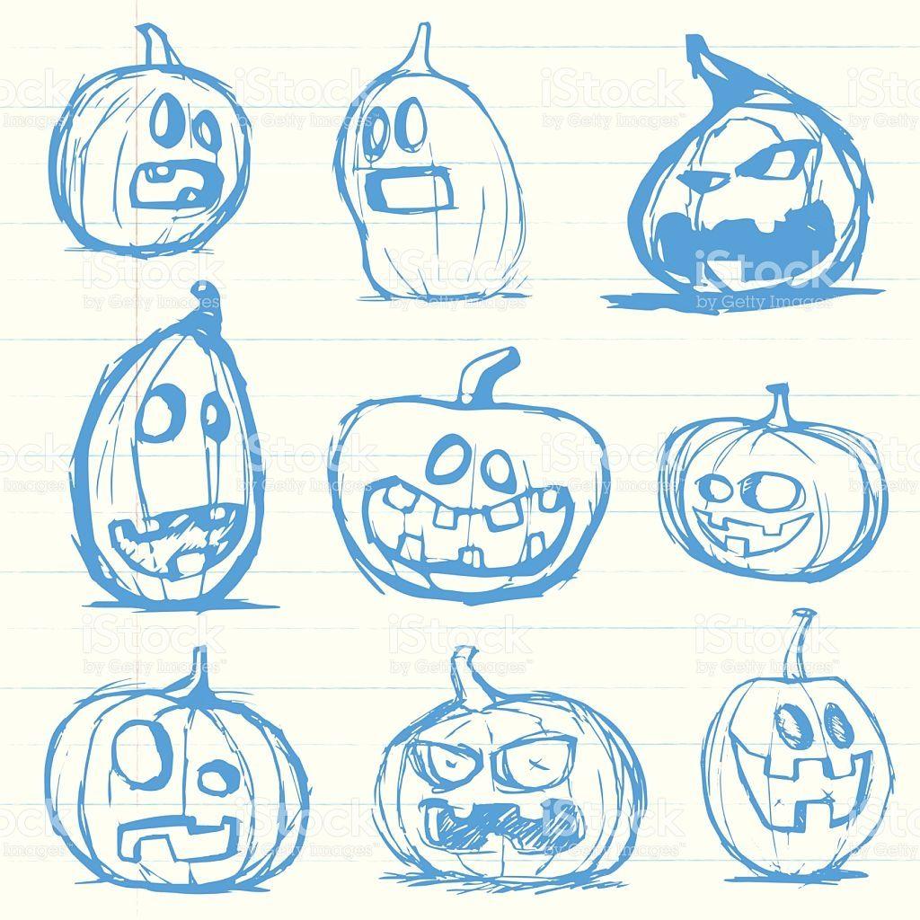 1024x1024 Image Result For Hand Drawn Halloween Jack O Lanterns Resin