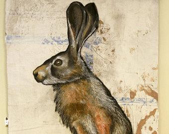 340x270 Jack Rabbit Drawing Etsy