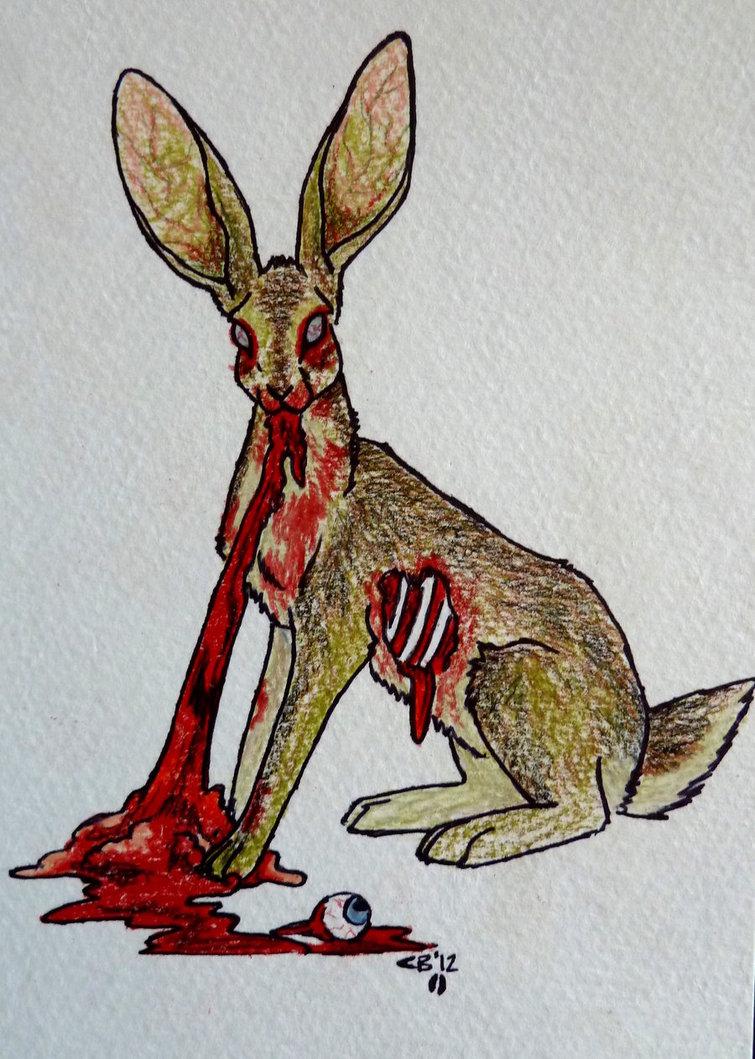 755x1059 Zombie Jack Rabbit By Ickydog